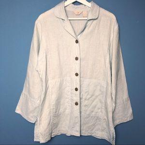 J. Jill Linen Button Up Jacket Size Small.